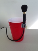 Plastic cup mic stand